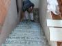 Treppenbau mit Fliesenlegen